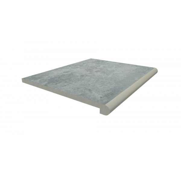 Image Displaying 600x500 Silver Contro Step with a 40mm Bullnose Edge