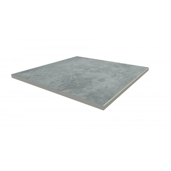 Image Displaying 600x600 Silver Contro Step with a 5mm Chamfer Edge