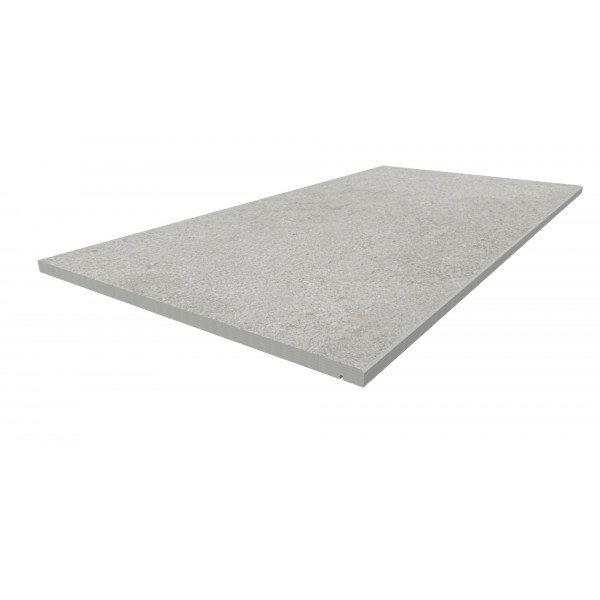 Image Displaying 1200x600 Silver Grey Step with a 20mm Chamfer Edge