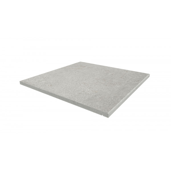 Image displaying 600x600 Silver Grey Step with a 5mm Pencil Round Edge