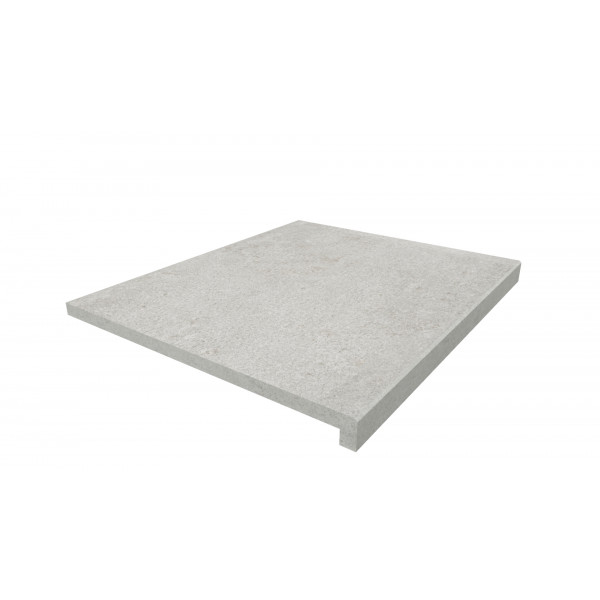 Image Displaying 600x500 Silver Grey Step with a 40mm Downstand Edge