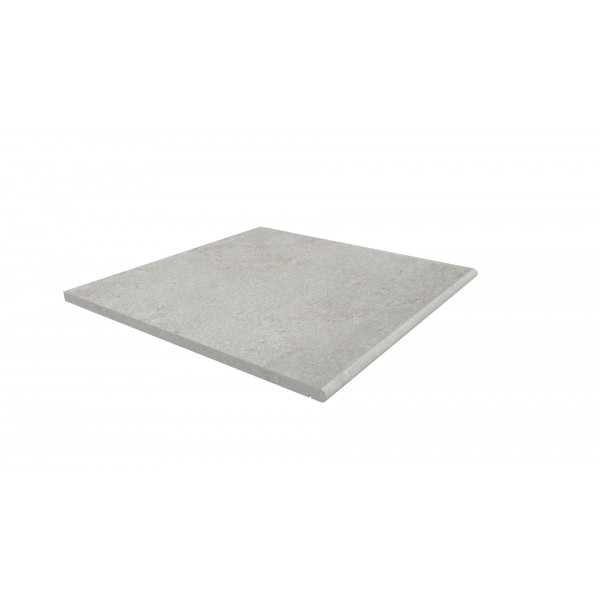 Image Displaying 600x600 Silver Grey Step with a 20mm Bullnose Edge