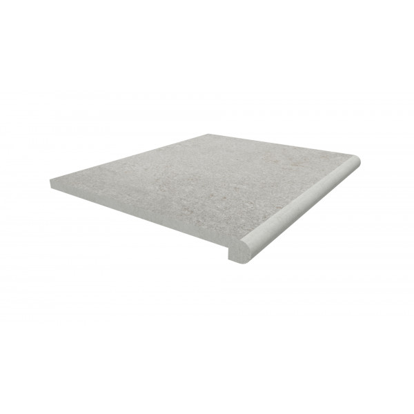Image Displaying 600x500 Silver Grey Step with a 40mm Bullnose Edge