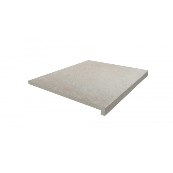 Image Displaying 600x500 Slab Khaki Step with a 40mm Downstand Edge