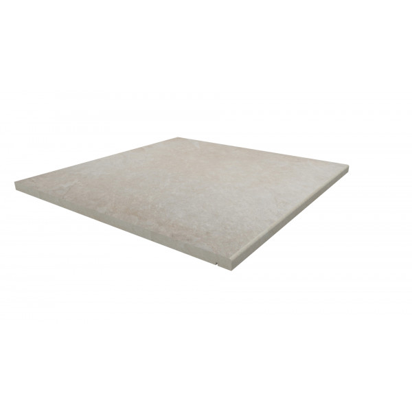 Image Displaying 600x600 Slab Khaki Step with a 5mm Pencil Round Edge