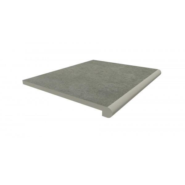 Image Displaying 600x500 Steel Grey Step with a 40mm Bullnose Edge