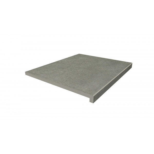 Image Displaying 600x500 Steel Grey Step with a 40mm Downstand Edge