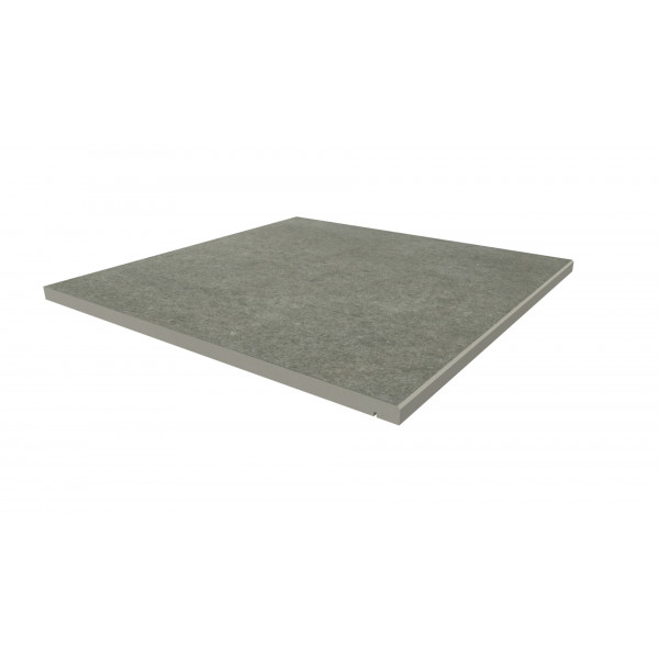 Image Displaying 600x600 Steel Grey Step with a 5mm Chamfer Edge