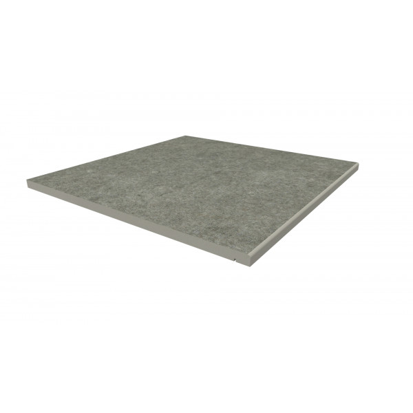 Image Displaying 600x600 Steel Grey Step with a 5mm Pencil Round Edge