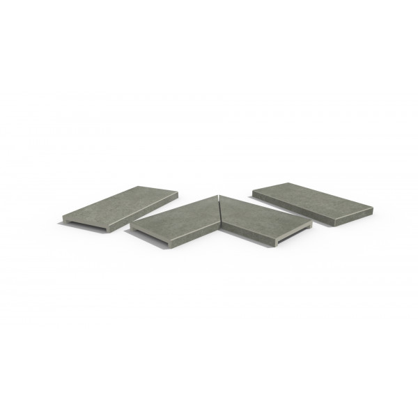 Image Displaying Steel Grey Coping Collection