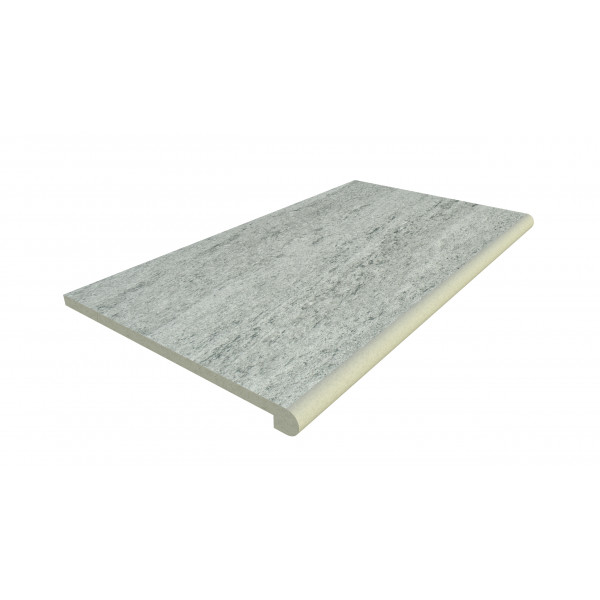 Image Displaying 900x500 Platinum Grey Step with a 40mm Bullnose Edge