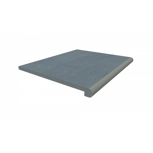 Image Displaying 600x500 Trendy Black Step with a 40mm Bullnose Edge