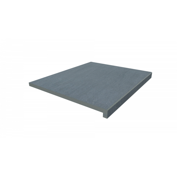 Image Displaying 600x500 Trendy Black Step with a 40mm Downstand Edge