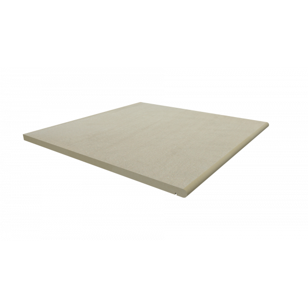 Image Displaying 600x600 Warm Beige Step with a 20mm Bullnose Edge