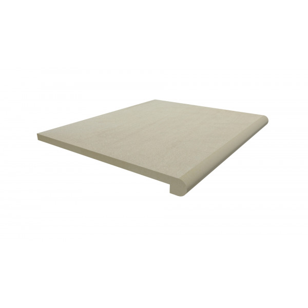 Image Displaying 600x500 Warm Beige Step with a 40mm Bullnose Edge