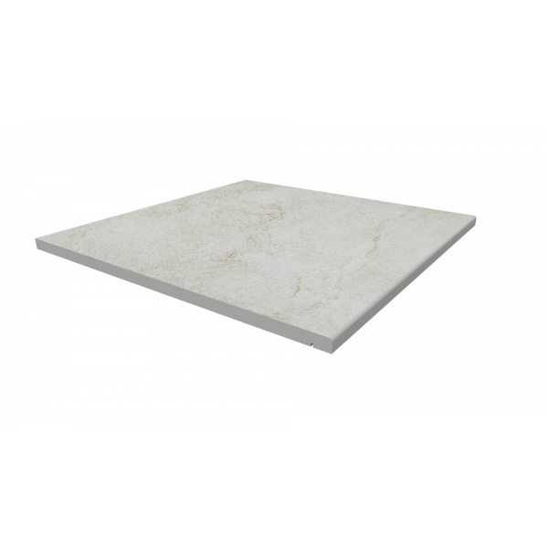 Image Displaying 600x600 White Quartz Step with a 5mm Pencil Round Edge