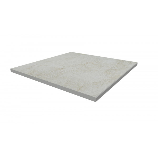 Image Displaying 600x600 White Quartz Step with a 5mm Chamfer Edge