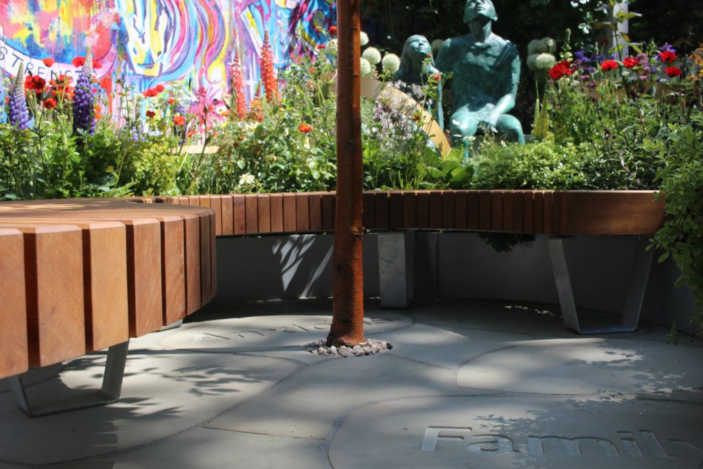 Supershoes Laced With Hope Garden built by Frosts Landscapes