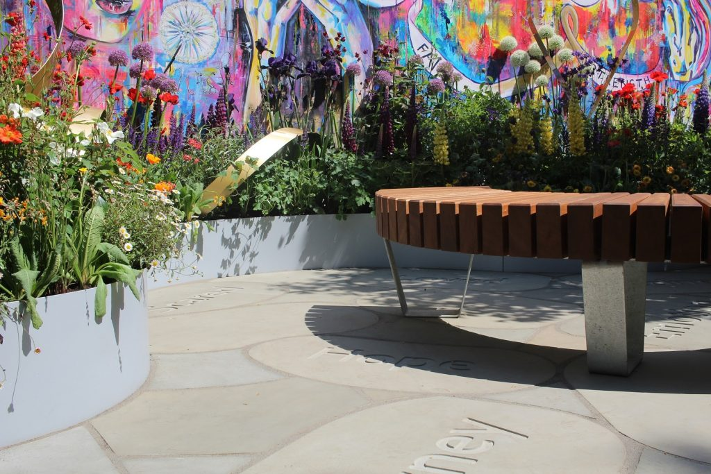 Supershoes Laced With Hope Garden by Laura Anstiss
