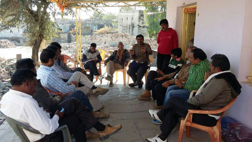 Manjari engaging with the Cobble traders' union meeting