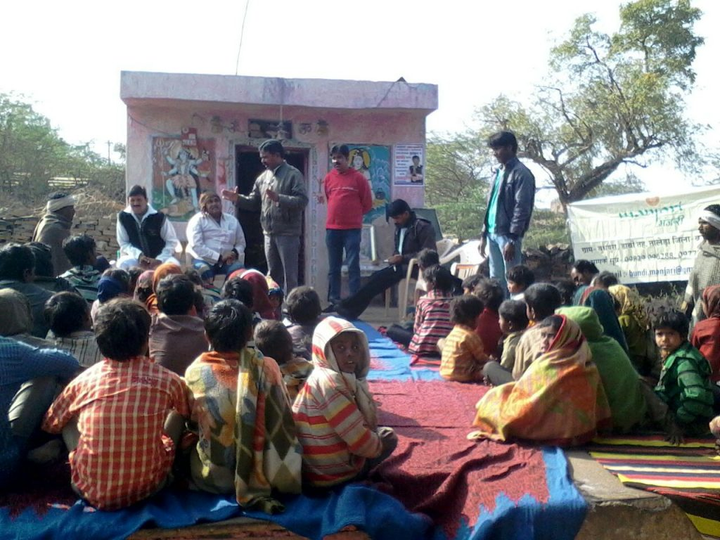 The community in Budhpura have come together to get right behind this project