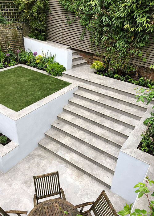 Porcelain Steps - Increasing Options Of Garden Design
