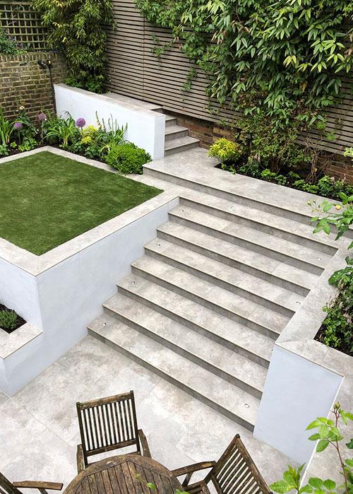 Porcelain Steps - Increasing Options Of Garden Design