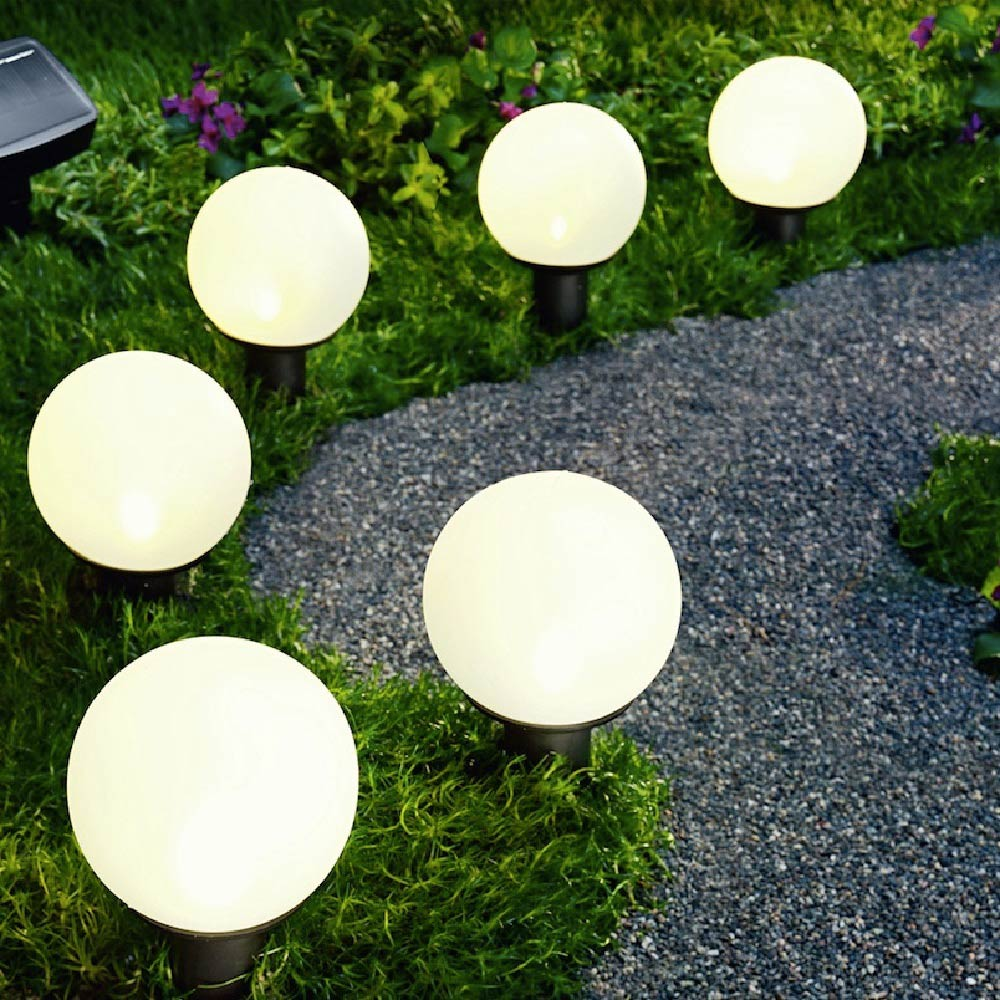 Guide the way across your garden with garden lights.