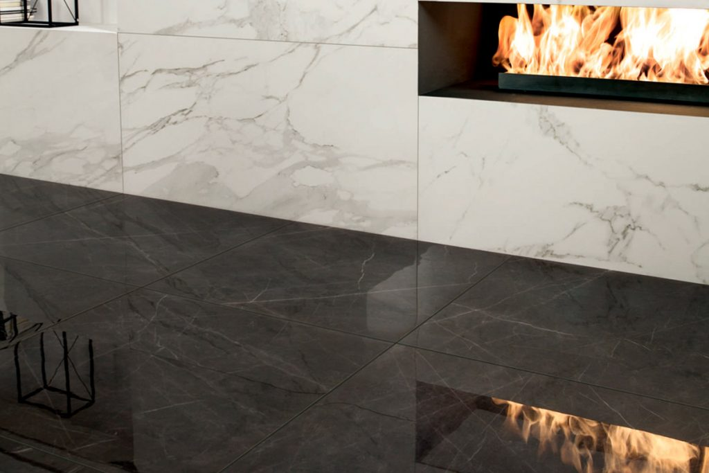 Pairing tiles that complement each other produces a stunning result.