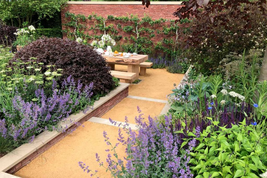 form Plant's Managing Director Jamie Butterworth's 2019 RHS quadruple wining show garden at RHS Chatsworth