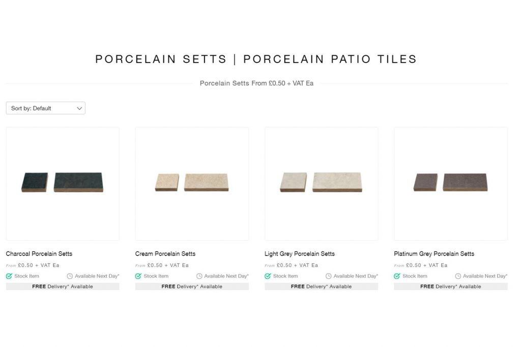 Image showing porcelain setts from London Stone. Porcelain Is On Trend! New In – Porcelain Planks & Setts