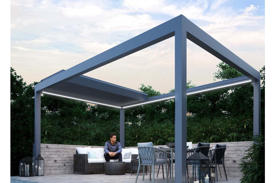 Create the perfect sheltered spot for your to enjoy the garden whatever the weather with a metal pergola.