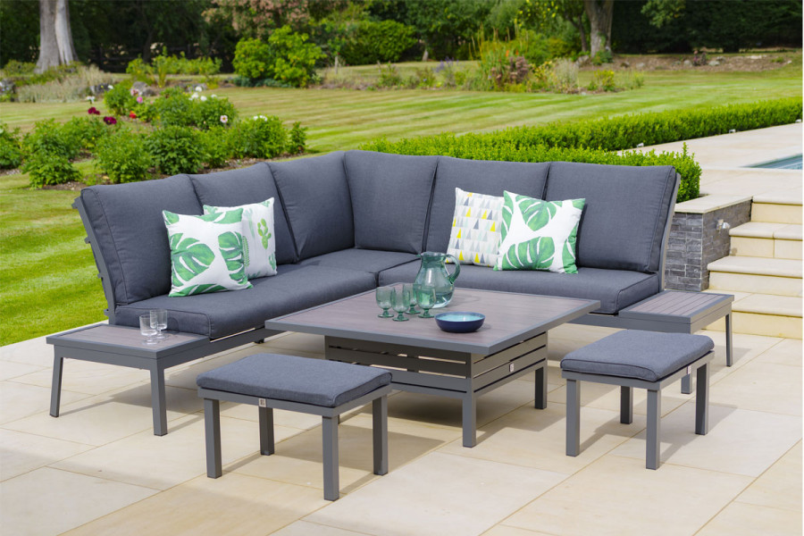 A modular garden set it perfect to kick back and relax or gather all your friends together.