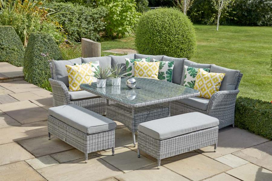 Rattan garden furniture is both stylish and hard wearing.