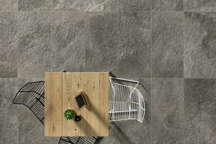 Titanio Porcelain Paving Slabs shown from above