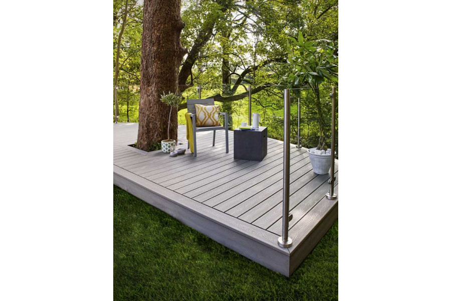 A perfect cosy spot, this decking area is the perfect place to read a book.