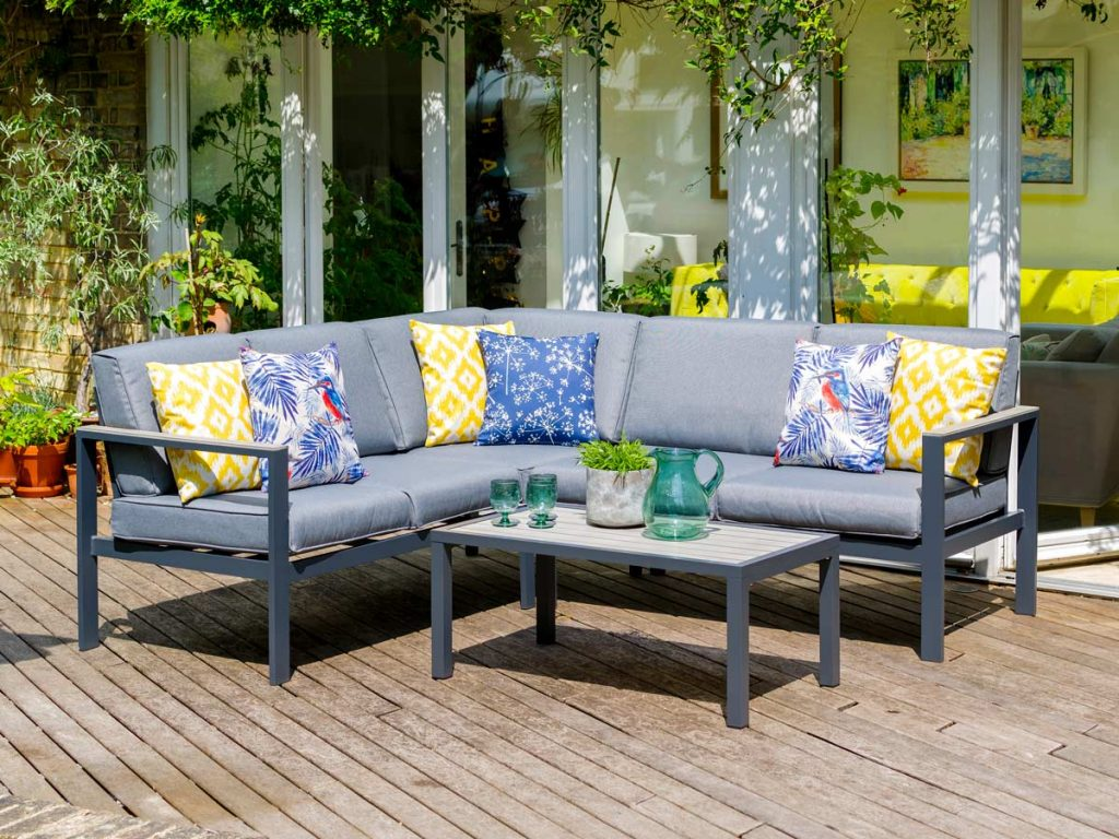 A corner sofa is a great choice of lifestyle garden furniture that suits any garden.