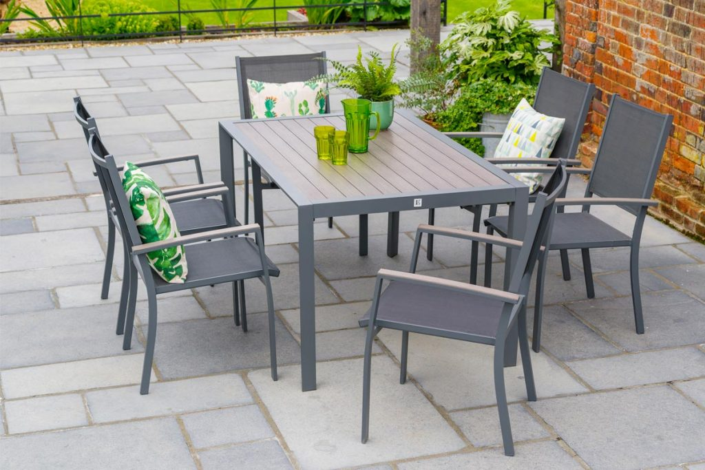 Sleek and stylish, metal garden furniture  is ideal for modern style gardens and requires minimal maintenance.