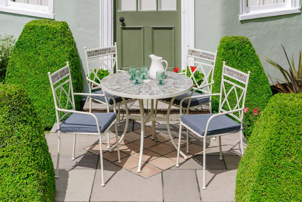 Metal garden furniture is a timeless classic and hard-wearing choice for the garden.