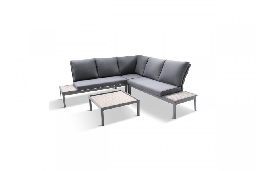 Entertain friends and family in the garden on this modular sofa set.