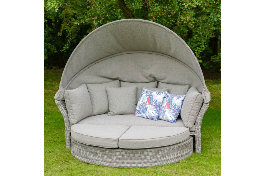 A garden day bed is the perfect spot for sunbathing and relaxing.