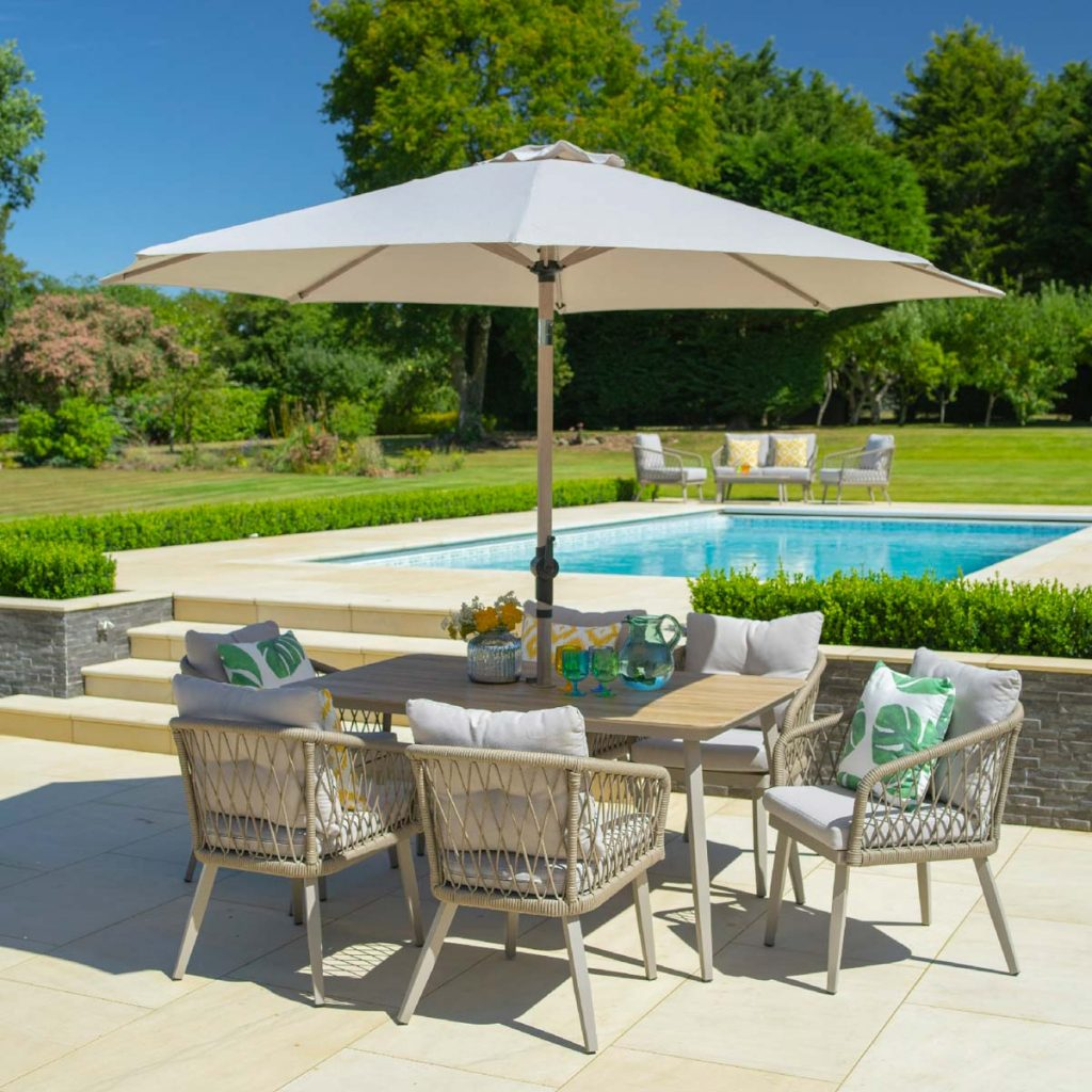 An outdoor dining set is the perfect place to host friends and family for alfresco dining.