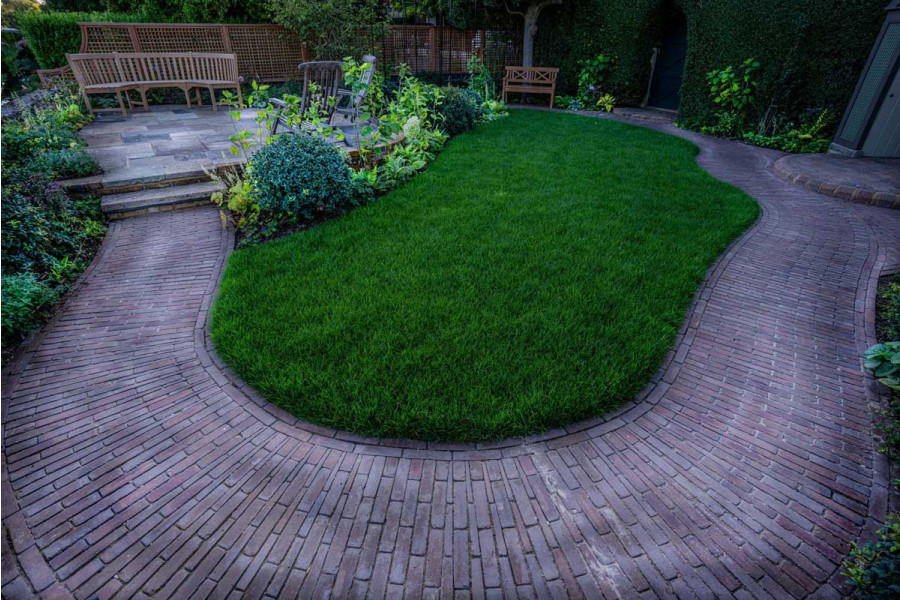 Clay pavers make a impressive addition to any garden transformation.