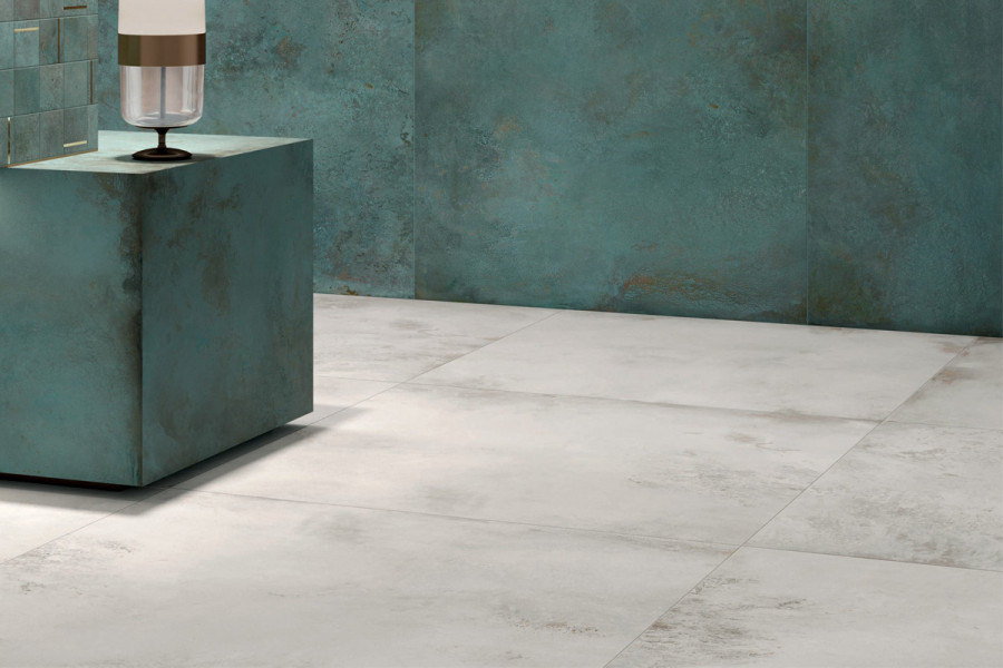 Add a striking visual design with vibrant porcelain tiles.