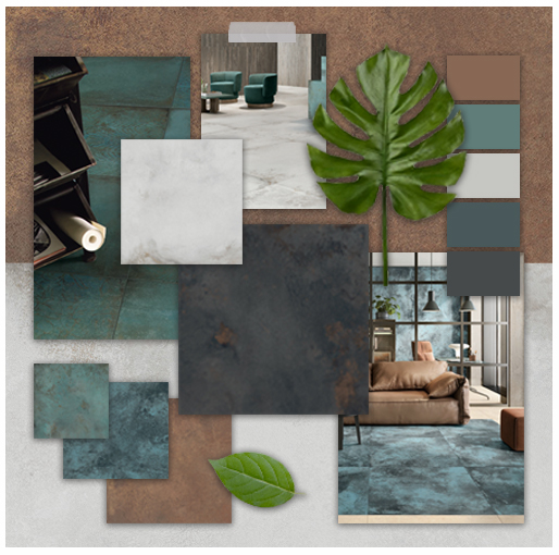 Get inspired for your next project by creating a mood board for your interior porcelain tiles.