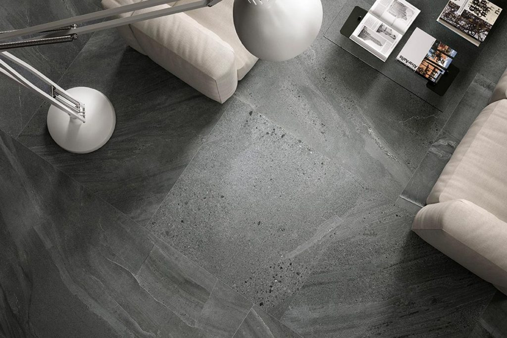 Porcelain tiles are full of colour and texture.