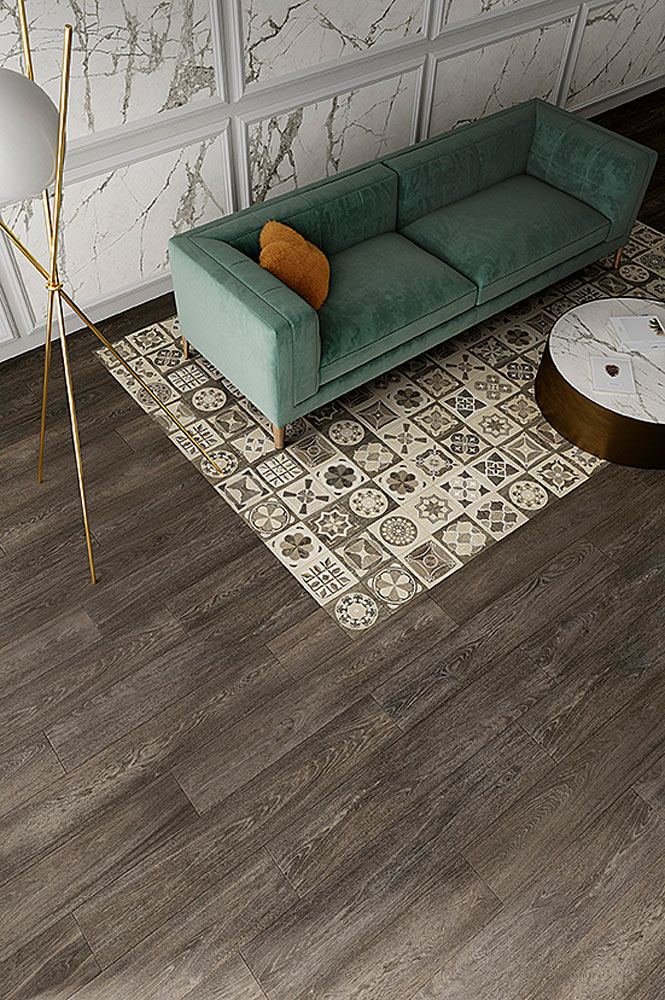 Patterned tiles are perfect for adding an interesting focal point to designs.