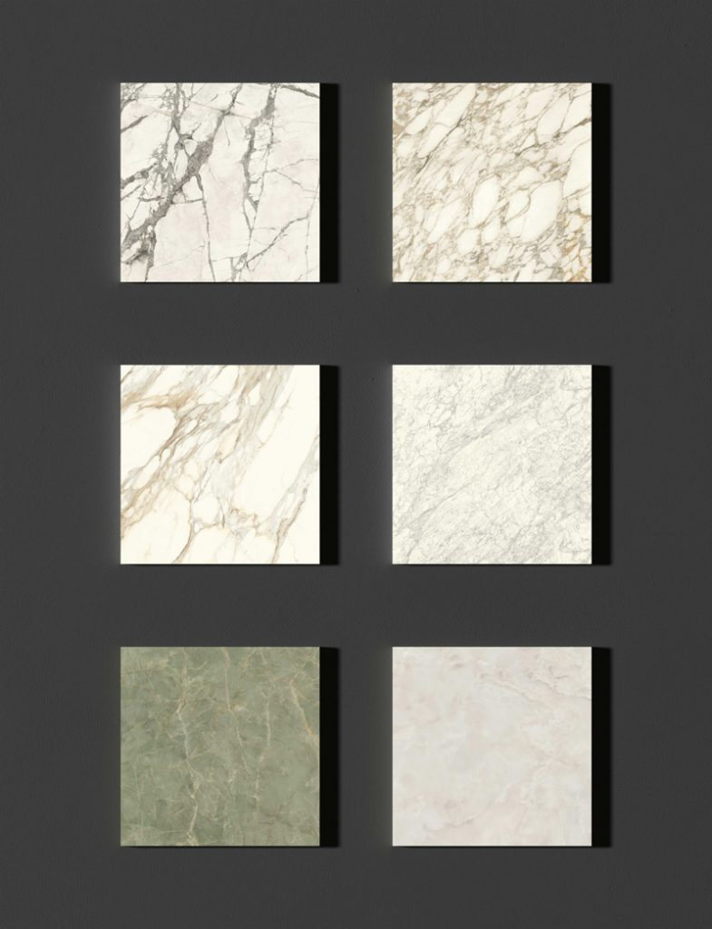 Porcelain tiles are available in a wide variety of colours and finishes.