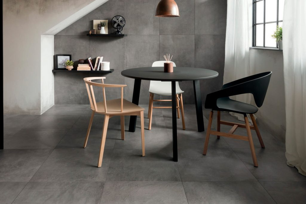 Porcelain tiles are ideal for making a bold statement around the home.