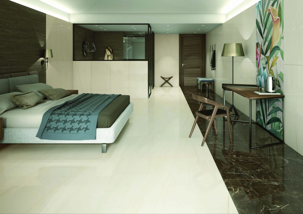 Porcelain interior tiles are the perfect choice for creating luxurious designs.
